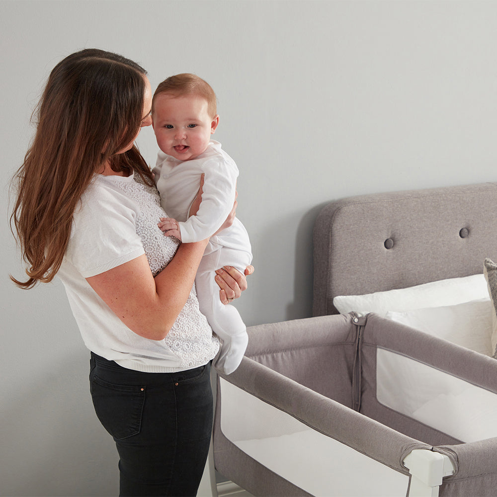 Shnuggle Air Bedside Crib - Dove Grey (2)
