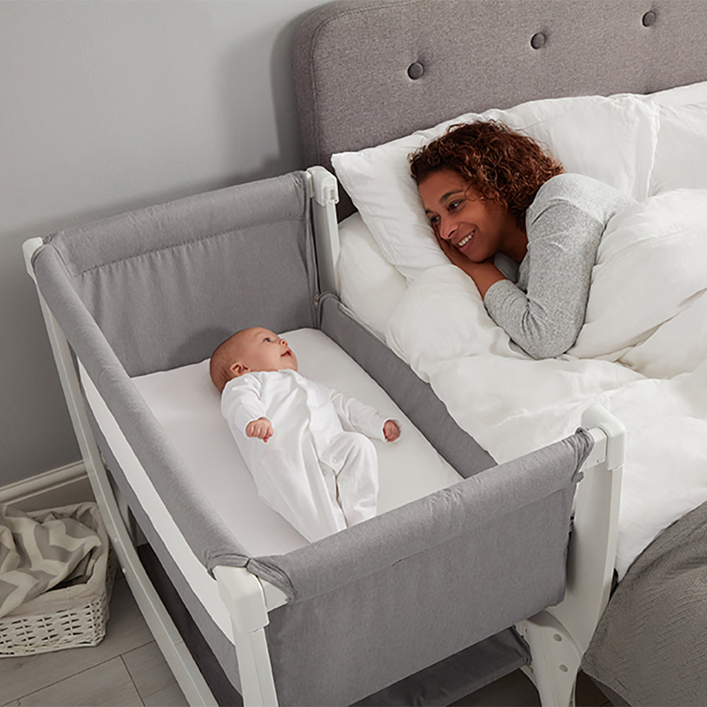 Shnuggle Air Bedside Crib - Dove Grey (3)