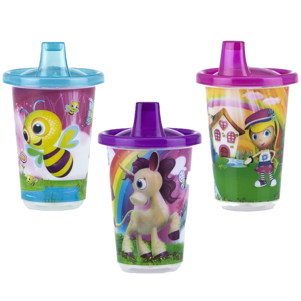 Wash or Toss™ Sipper 300ml x 3 - Girl