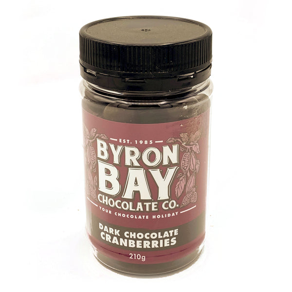 Byron Bay Chocolate Co. - Dark Chocolate Cranberries