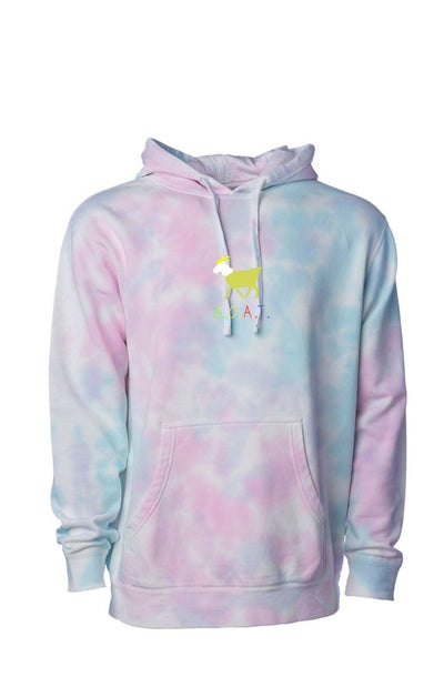 GOAT Tie Dye Cotton Candy Hoodie