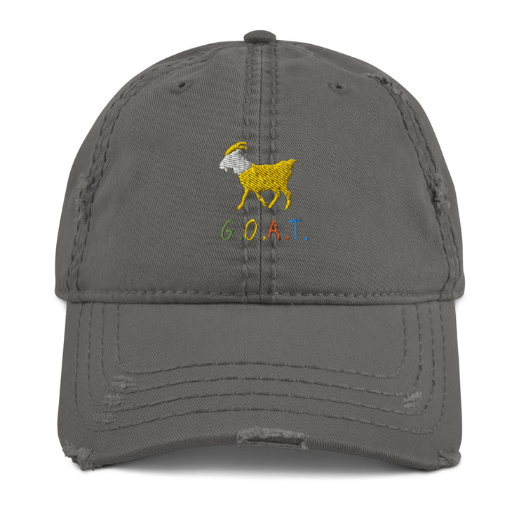 GOAT Distressed Dad Hat
