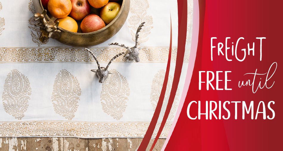 free freight until christmas
