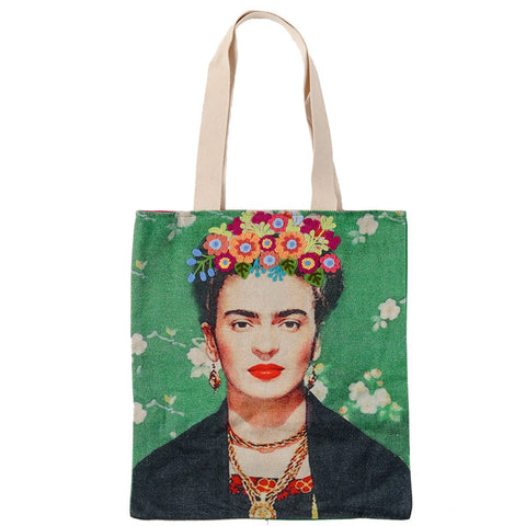 Frida Canvas Bag - Black Shawl - Green