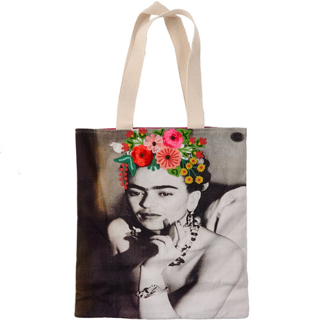 Frida Canvas Bag - Evening Dress - Sepia
