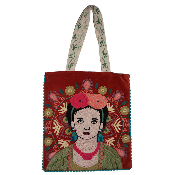 Frida Velvet Bag - Rust