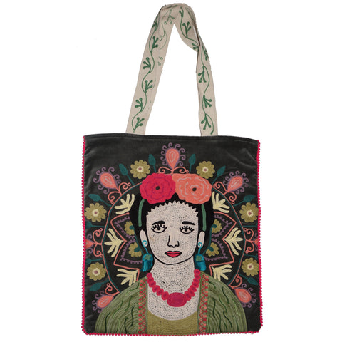 Frida Velvet Bag - Grey