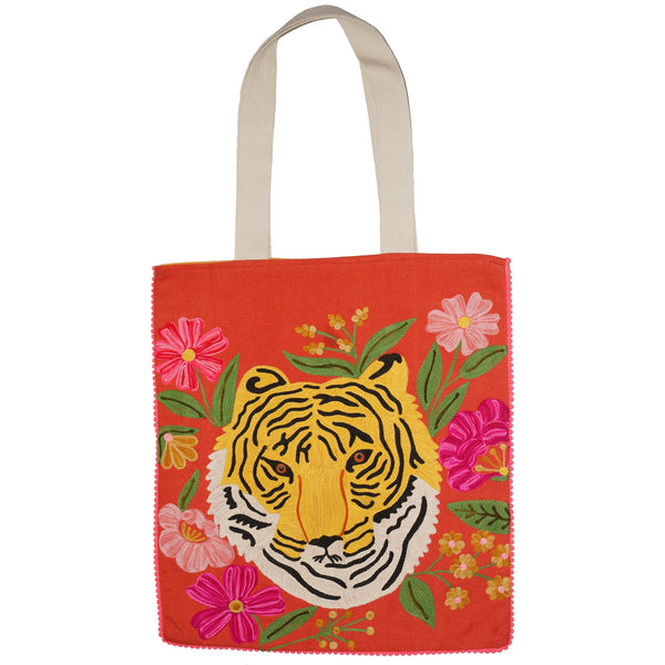 Tiger Bag - Portrait - Orange Multi
