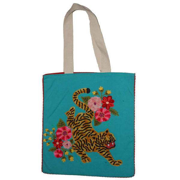 Tiger Bag - Blossom - Turquoise Multi