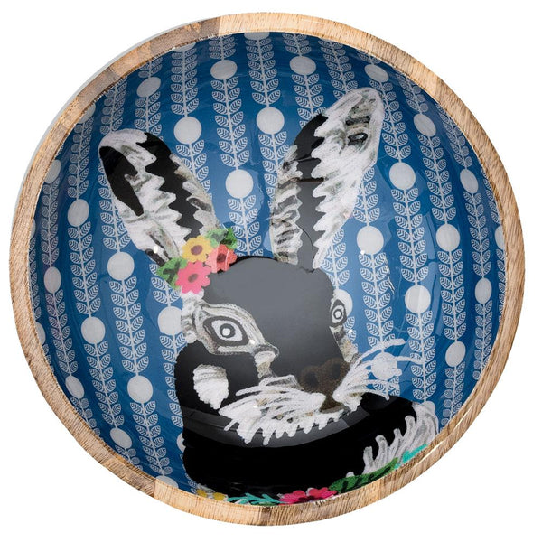 Rabbit with Garland Bowl - Multicolour