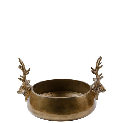 Reindeer Bowl - Medium - Antique Gold