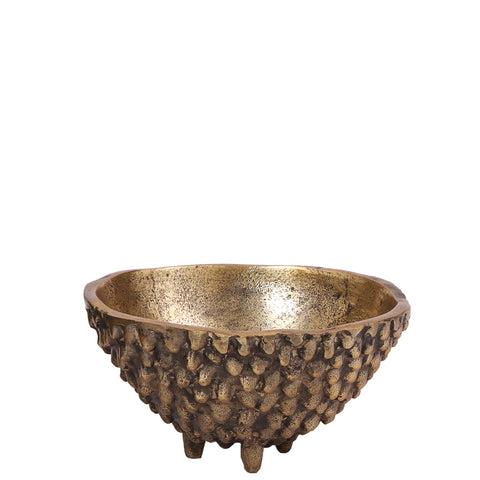 Three Legged Bowl - Small - Raw Antique Gold