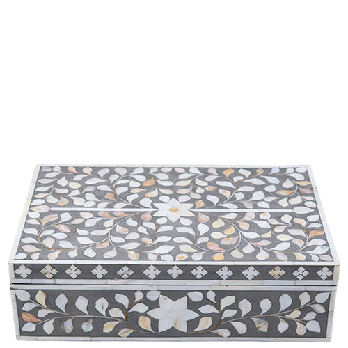 Mother of Pearl Inlay Box - Taupe
