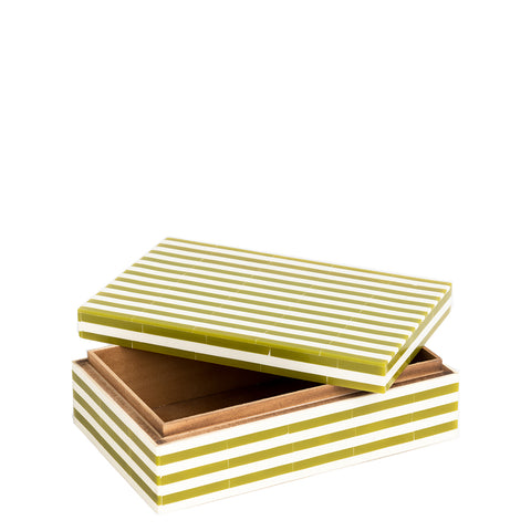 Striped Box - Green / Cream - Large