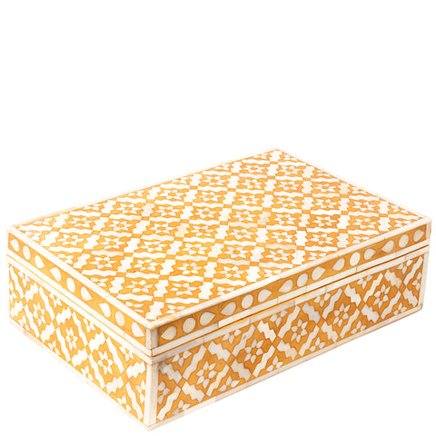 Bone Inlay Box - Wallpaper - Yellow