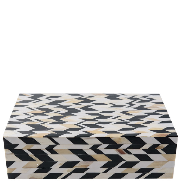 Bone Box - New Chevron - Large - Black / White / Grey