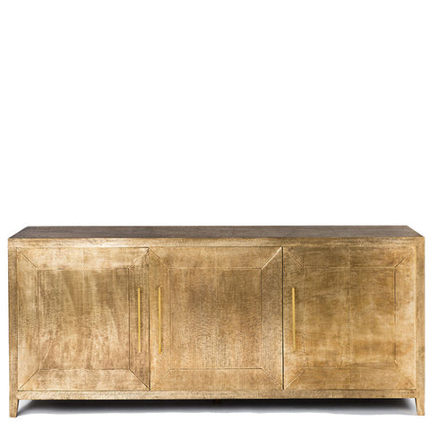 Embossed Brass Sideboard - Antique Brass