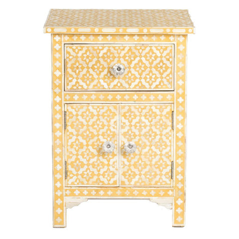 Bone Inlay Side Cabinet - Wallpaper - Yellow