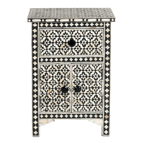 Bone Inlay Side Cabinet - Wallpaper - Black