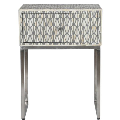 Bone Inlay Side Cabinet - Lantern - Grey