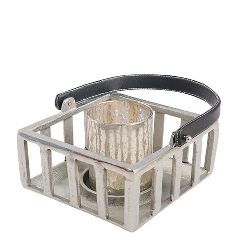 Hurricane Lantern - Medium - Raw Nickel