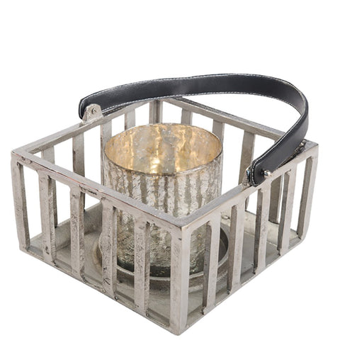 Hurricane Lantern - Large - Raw Nickel