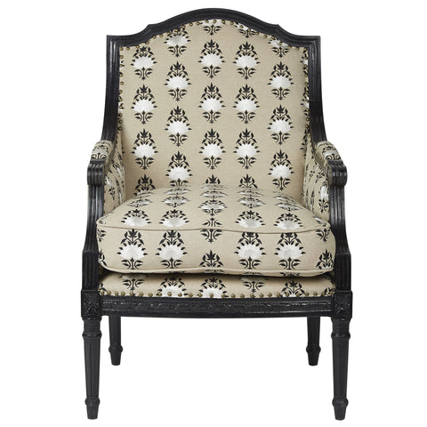 Bouti Upholstered Armchair - Black / White