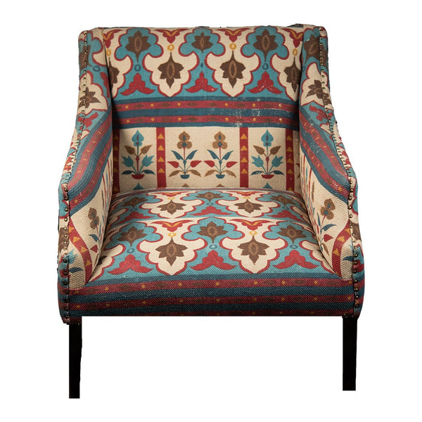 Dhurry Upholstered Armchair - Multicoloured
