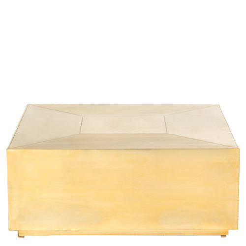 Brass Square Coffee Table - Brass