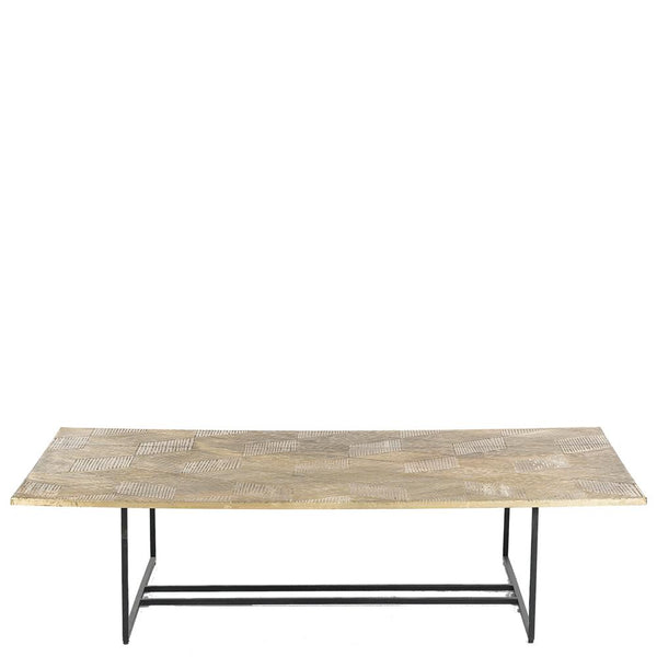 Liege Brass Veneer Coffee Table - Matt Brass