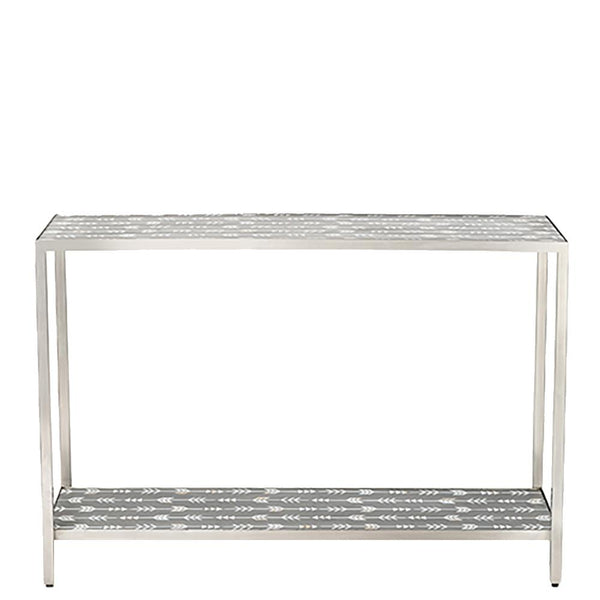 Arrow Mother of Pearl Console -  Grey
