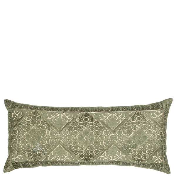 Phulkari Embroidered Cushion - Green Large