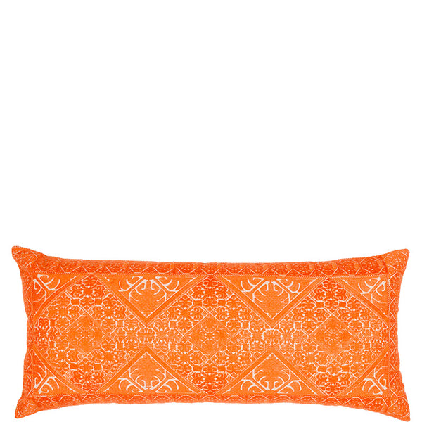 Phulkari Embroidered Cushion - Orange Large
