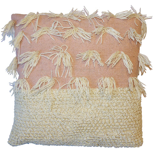 Loops & Tassels  Cushion - Pale Pink