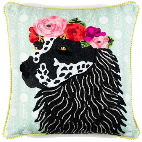 Hound with Garland Cushion - Multicolour