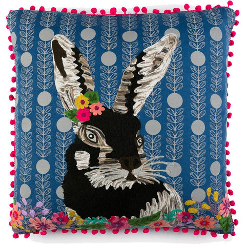 Rabbit with Garland Cushion - Multicolour