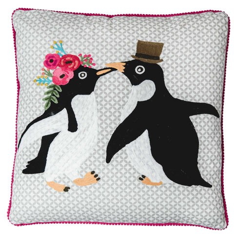Penguin Cushion - Multicolour