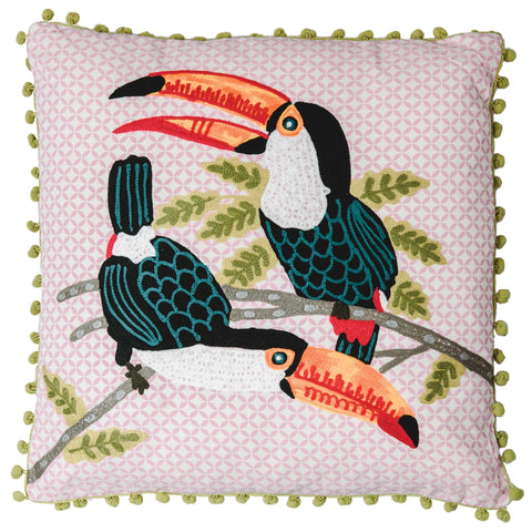 Toucan Cushion - Multicolour