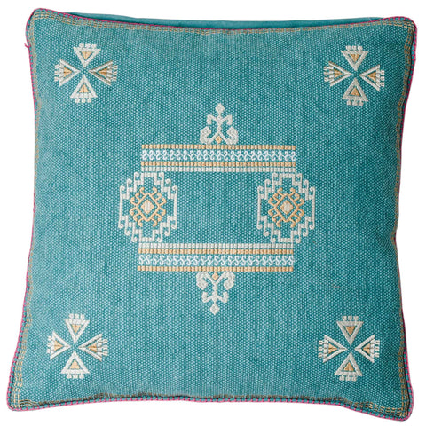 Santa Fe Cushion - Teal