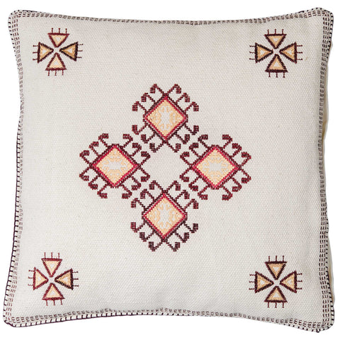 Santa Fe Cushion - White