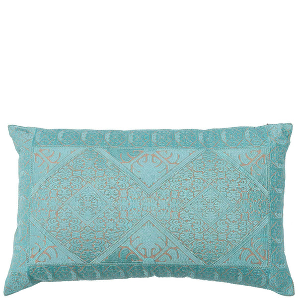 Phulkari Embroidered Cushion - Pale Blue