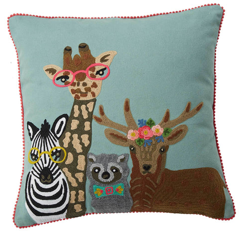 Wildlife Safari Cushion - Multicolour