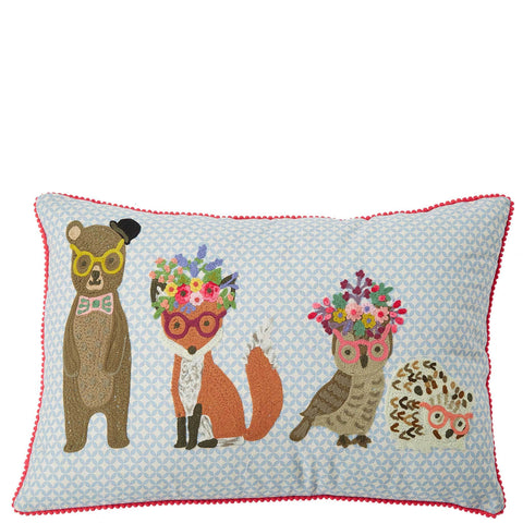 Woodland Animals Cushion - Multicolour