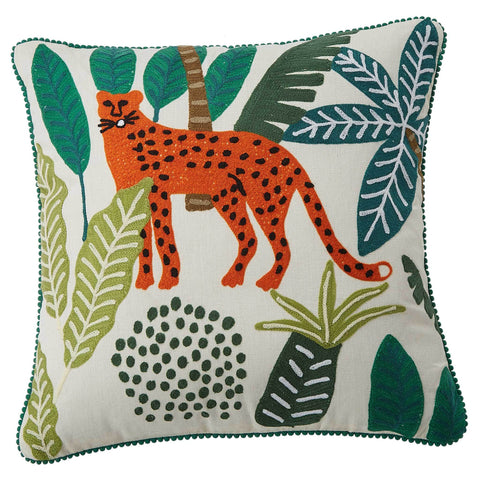 Leopard Cushion - Multicolour