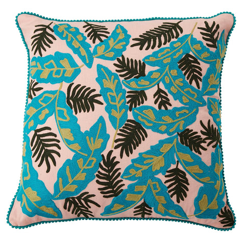Palm Leaves Cushion - Multicolour