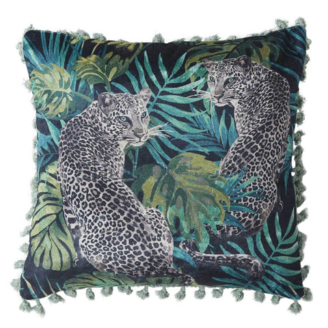Cheetah Cushion - Green Multi