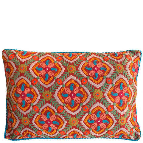 Suzani Cushion - Orange Multi