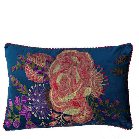 Bloom Cushion - Blue Multi