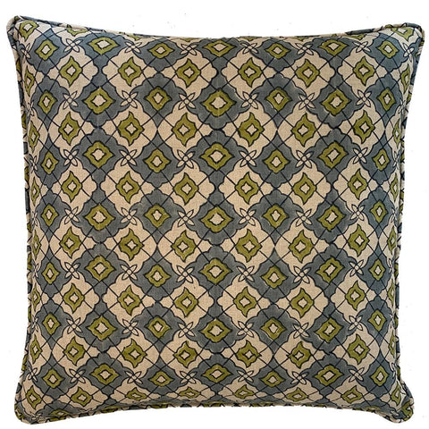 Cushion - Diamond - Olive / Grey