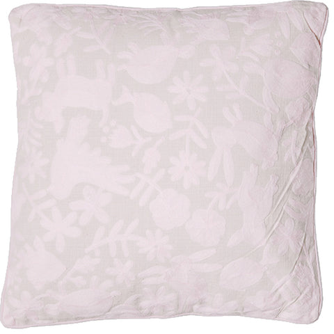 Animalitos Cushion - Pale Pink
